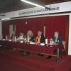 Radno predsedništvo (sa leva na desno): mr. D.Mitrović, član org. odb. SIMTERM, prof.dr. M.Stojiljković, predsed. org. odb. SIMTERM, prof.dr. M.Đurović-Petrović, gen. sek. DTS-a, prof.dr. M.Radovanović, preds. DTS, J.Urošević, podpreds. DTS-a